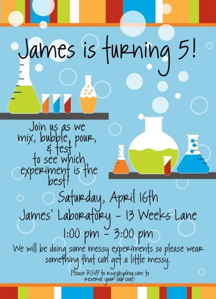 Science Party Invitations Science Party Invitations Along With