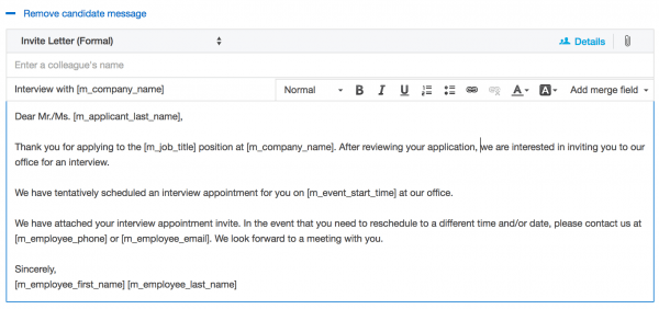 How Confirm An Interview Handli Best Invite A Candidate Email