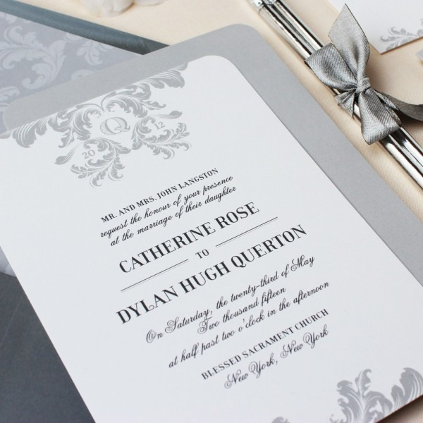Simple Elegant Wedding Invitations Simple Elegant Wedding
