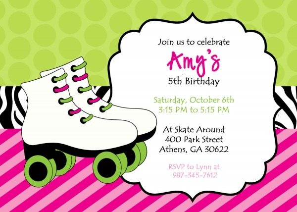 Skate Party Invitations In Support Of Invitations Your Party