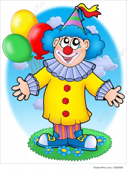 Entertainment  Smiling Clown With Balloons