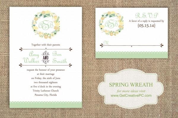 Spring Wedding Invitations Spring Wedding Invitations For Wedding