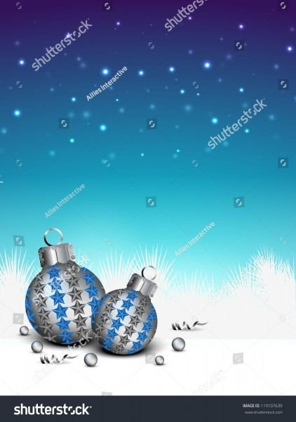 Christmas Balls Eps 10 Greeting Card Stock Vector 119107639