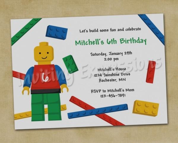 Birthday Invites Element Spectacular Lego Birthday Party