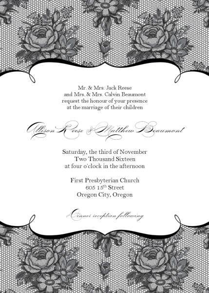 Stunning Wedding Invitation Templates Free Printable Red And Black