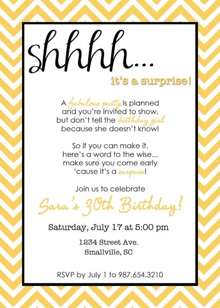 Aecddedcbccda Surprise Party Invitations Party Invitation