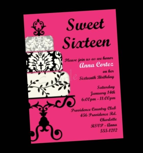 Sweet 16 Party Invitation Wording Sweet 16 Invitation Gallery