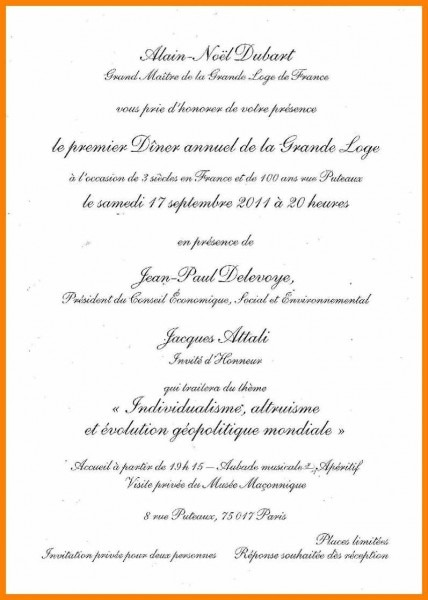 Texte Invitation Repas Famille