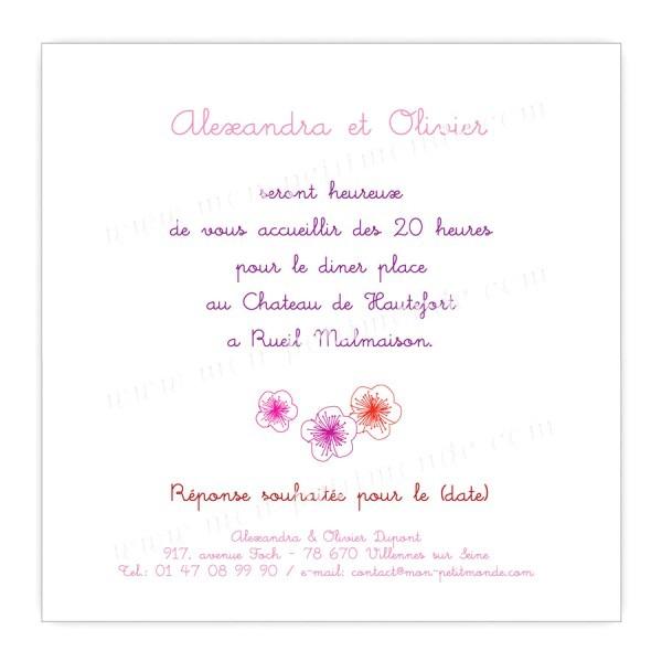 Texte Invitation Repas Lendemain Mariage Dans Carton Invitation