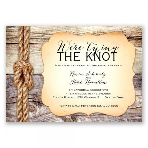 Tie The Knot Wedding Invitations