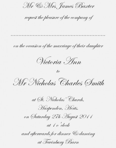 Traditional Wedding Invitation Wording Awesome Traditional Wedding