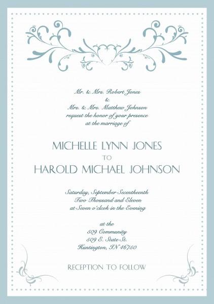Traditional Wedding Invitations Templates Reference 25 Elegant