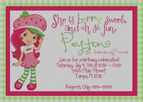 Beautiful Of Strawberry Shortcake Baby Shower Invitations