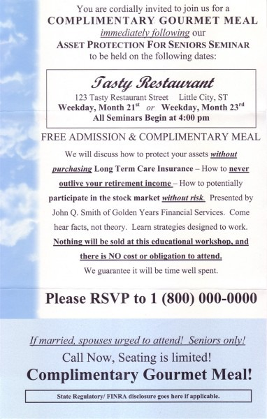 Seminar Invitation Sample Wording