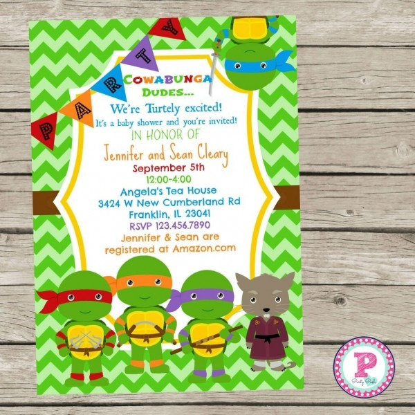 Turtle Invitations For Baby Shower Templates Target Girl Party