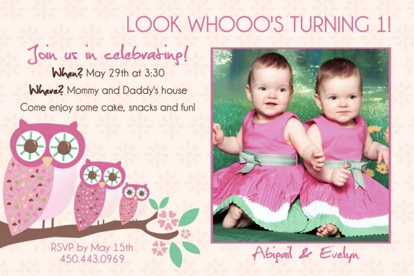 Amazing Twins First Birthday Card