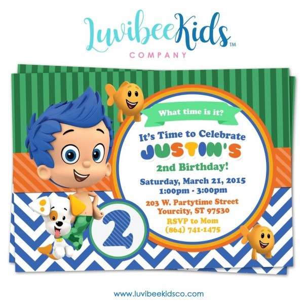 Invitation Ideas  Bubble Guppies Birthday Invitations