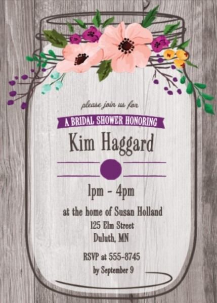 Tropical, Garden And Bbq Bridal Shower Invitations New Selections