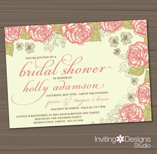 Victorian Baby Shower Invitations Inexpensive Bridal Shower