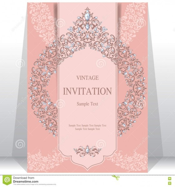 Wedding Invitation Or Card With Abstract Background  Stock Vector