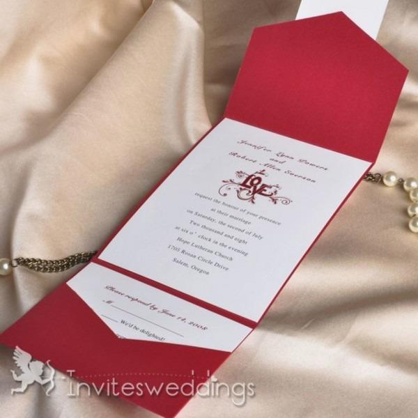 Wedding Invitation Pocket Envelopes Fresh Blooming Fireworks