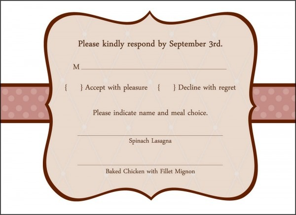 Wedding Invitation Response Card Wedding Invitation Response Card