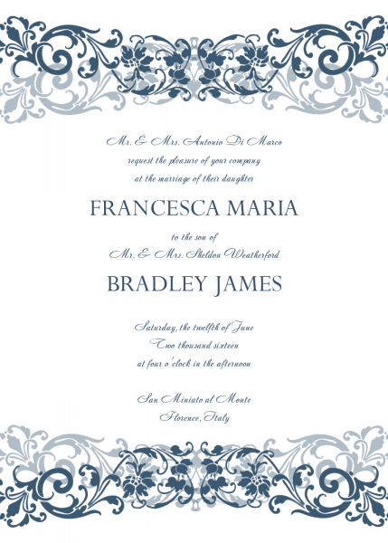 Wedding Invitation Templates – Home Of Design Ideas