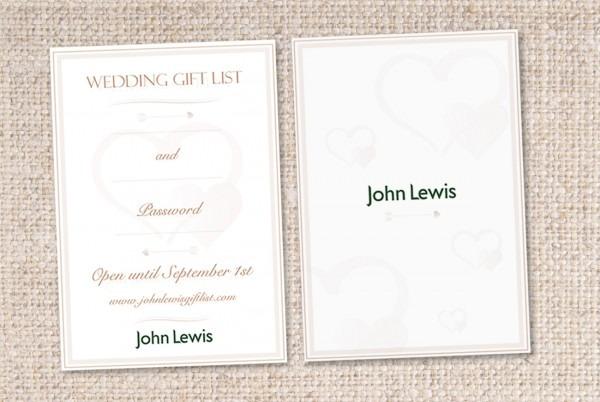 Wedding Gift John Lewis: John Lewis Invitations