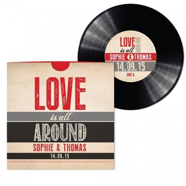 Vinyl Record Wedding Invitations Uk