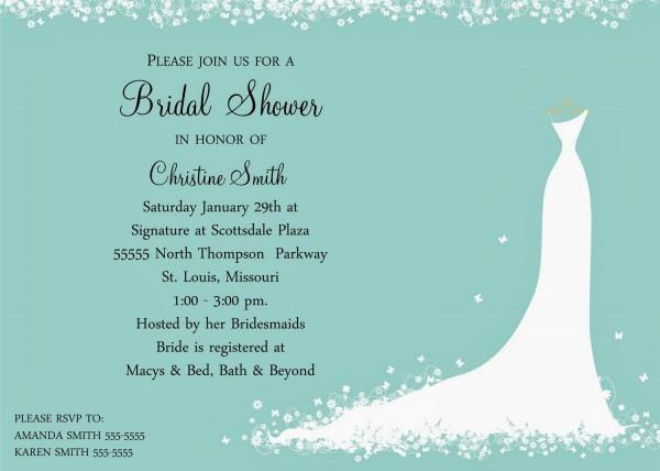 Wedding Shower Invitation Wording Ideas
