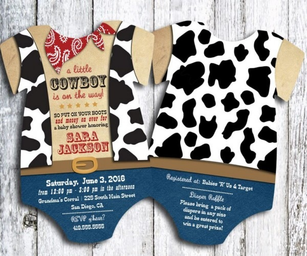 Western Baby Shower Invitations Western Baby Shower Invitations