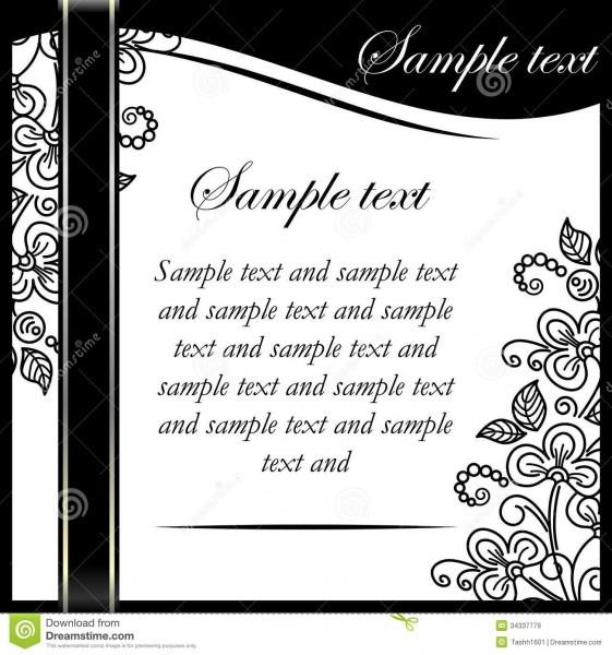 Black White Floral Invitation Printable Templates Black And White