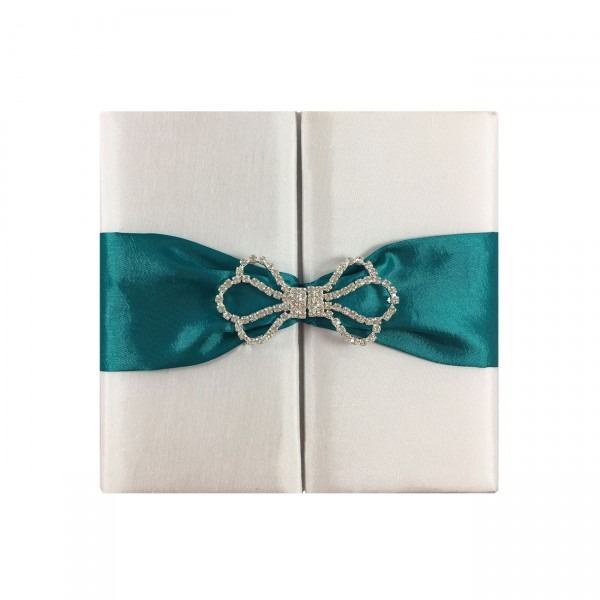 Special Event Invitation For A White Wedding Featuring Diamond