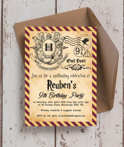 Wizardswitchesinv Harry Potter Witches Wizards Birthday Party