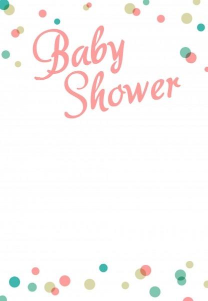 024 Stock Vector Pink Baby Shower Invitation Template Illustration
