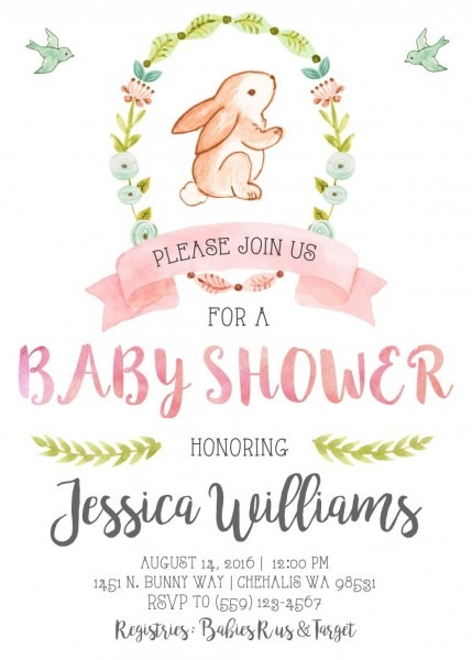 025 Template Ideas Vintage Baby Shower Invitations For Girl Pink