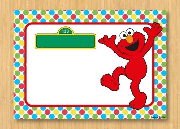 Download Free Printable Elmo Birthday Invitations