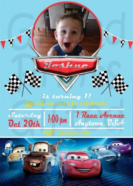 Cars Themed Birthday Invitation