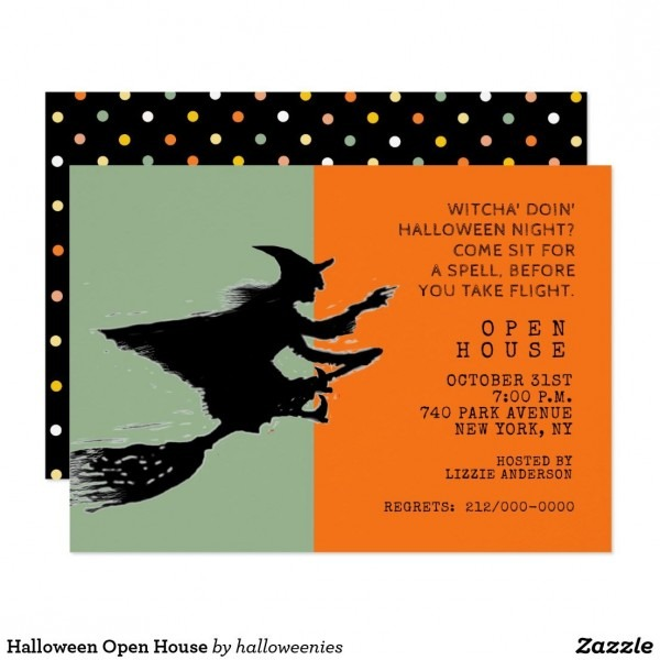 Halloween Open House Invitation In 2018