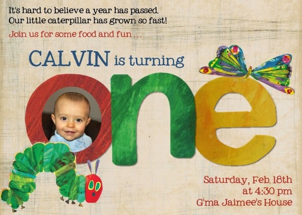 The Very Hungry Caterpillar Invitation Template Free
