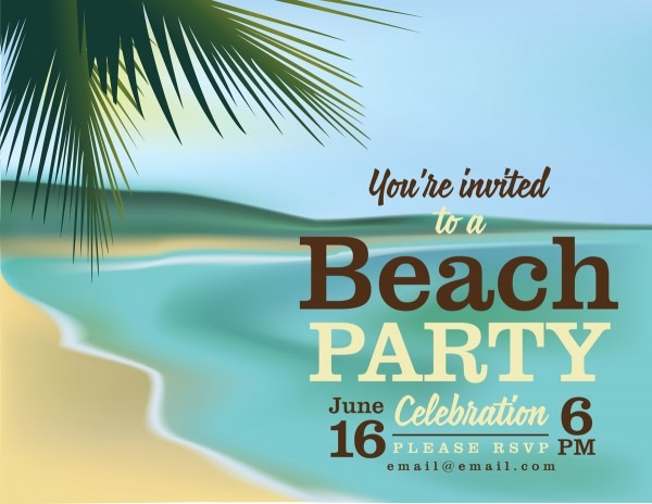 Tips And Samples For Stylish And Trendy Beach Party Invitations
