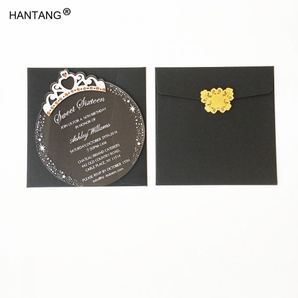 150x170mm Round Princess Crown Shape Clear Acrylic Birthday