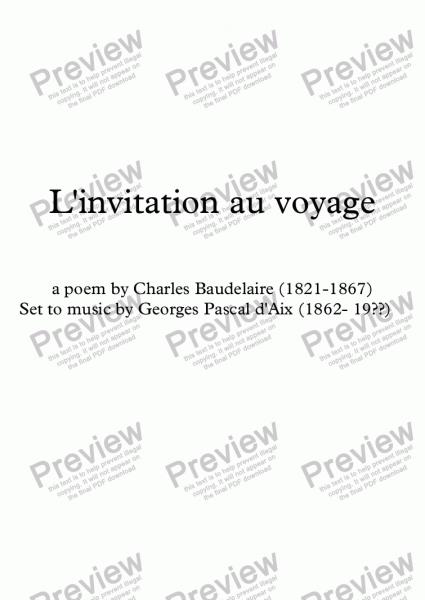 L'invitation Au Voyage (g  Pascal D'aix   Baudelaire)