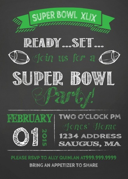 Pin By Silver Line Design Team Sldt On Super Bowl Invitation