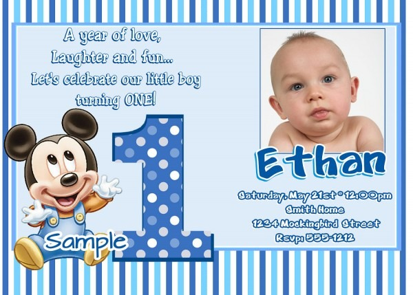 Invitation Card 1st Birthday Boy