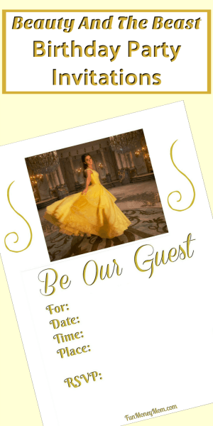 Beauty And The Beast Birthday Party Invitations