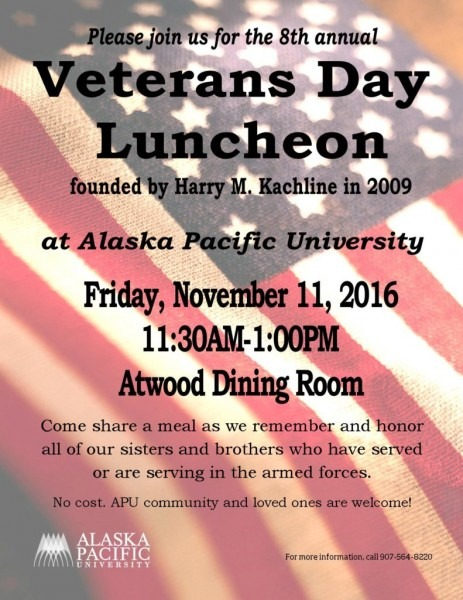 8th Annual Veteran's Day Luncheon – Alaska Pacific University