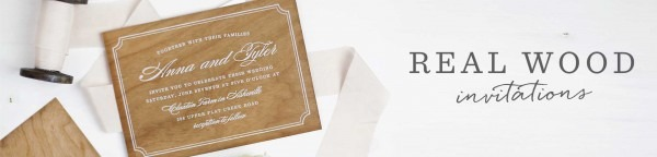 Wooden Wedding Invitations Made From Real Wood