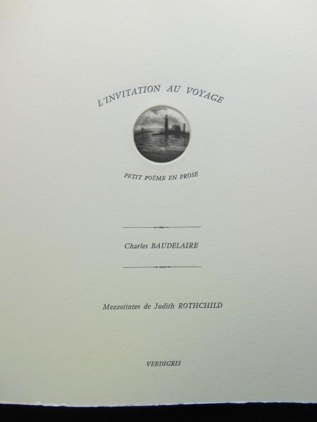 L'invitation Au Voyage [artist Book