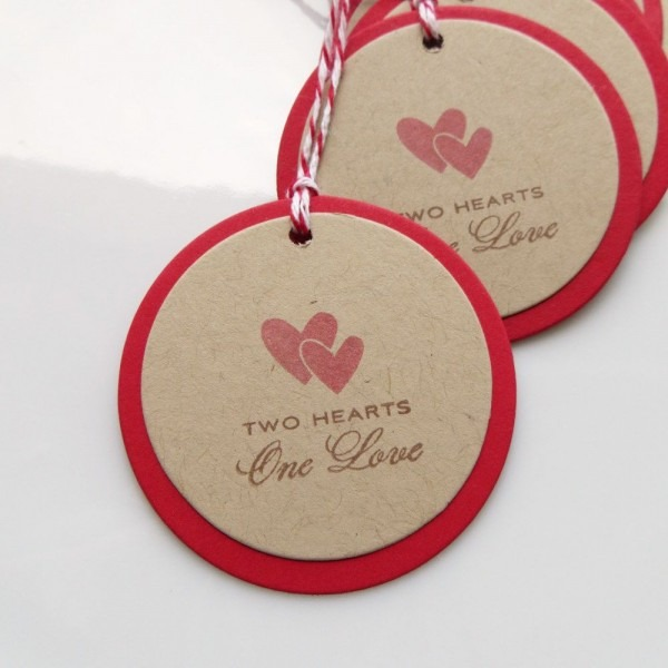 Heart Love Tags Two Hearts One Love